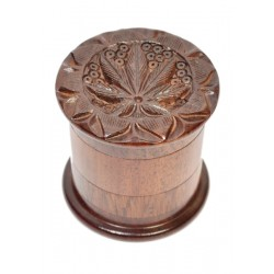 Rosewood Double Grinder Carved with Filter