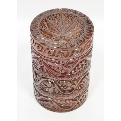 Rosewood Cylinder Grinder Carved with storage
