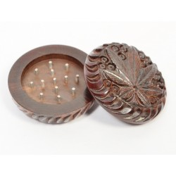 Small Rosewood Grinder Carved