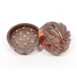 Small Rosewood Grinder Bowl Carved